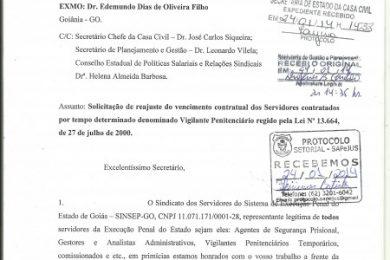 Photo of SINSEP-GO Solicita Reajuste do Vencimento Contratual do Vigilante Penitenciário